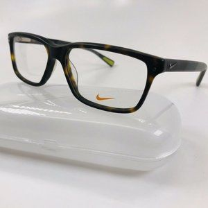 New NIKE 7239 200 Matte Tortoise Eyeglasses 55mm with NIKE Case